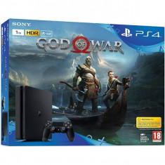Consola SONY PlayStation 4 Slim (PS4 Slim) 1 TB, Jet Black + joc God of War