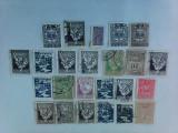 Lot de timbre , 24 buc , stampilate , romanesti
