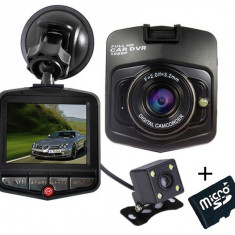 Camera auto Dubla iUni Dash 806, Full HD, 12Mpx, 2.5 Inch, 170 grade, Parking monitor, G senzor, Black + Card 16GB Cadou - Camera video auto