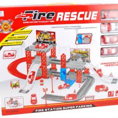 "Lichidare de stoc! Set parcare, statie de pompieri cu masinute - Jucarie ""Fire Rescue Station"" - Vehicul"