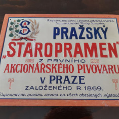 Reclama veche Staropramen - Reclama Tiparita