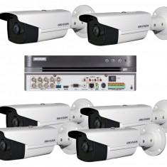 Sistem Supraveghere Video 6 Camere Exterior pt 80m Hikvision 5MP, 7