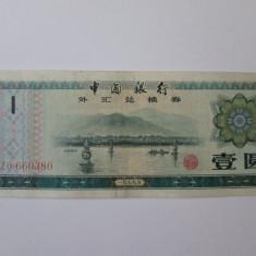 China 1 Yuan 1979 Foreign exchange certificate - bancnota asia