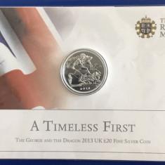 ANGLIA ( UK ) - 20 Lire 2013 - 15.71 gr. Argint .999 - Brilliant Uncirculated, Europa
