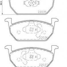 Set placute frana BREMBO P 85 137
