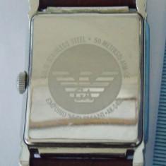 Ceas Emperio Armani -15 - Ceas barbatesc Armani, Elegant, Quartz, Inox, Piele, 50 m / 5 ATM