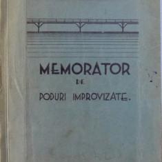 MEMORATOR DE PODURI IMPROVIZATE de MAIOR PAUL FUCHS , 1933