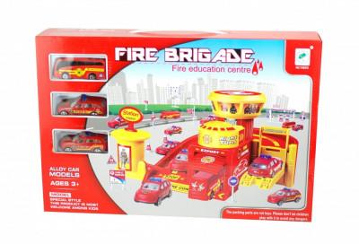 Statie de pompieri cu masinute pentru copii - Circuit educativ de jucarie foto