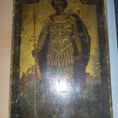 Icoana veche 34 cm/22 cm,carton,nu s-a intervenit in curatarea Iconei,T.GRATUIT