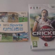 LOT 2 jocuri - Wii Sports + Cricket - Nintendo Wii [Second hand], Sporturi, 3+, Multiplayer