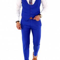 Compleu albastru VESTA + PANTALONI - compleu barbati - COLECTIE NOUA A1396 J8-1, Din imagine