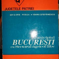 Municipiul Bucuresti cu SAI colectia judetele patriei an 1984/290pag/harta