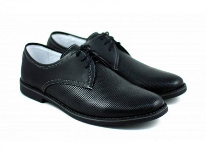 Pantofi barbati casual din piele naturala - IANIS2N foto mare