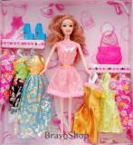 Papusa cu accesorii vestimentare - Jucarie pentru fetite!