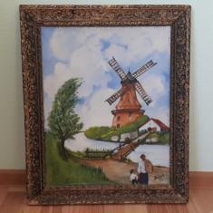 Tablou vechi pe panza semnat Sava, Istorice, Acrilic, Realism