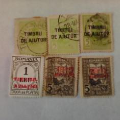 Lot de timbre romanesti cu supratipar