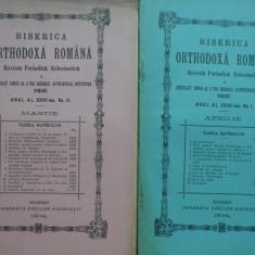 12 reviste Biserica Ortodoxa Romana , 1902 , un numar ; 1904 , 9 numere , 1945