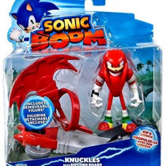 Jucarie Sonic Boom 3 Inch Figure Knuckles With Ripcord Board, Tomy