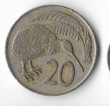Moneda 20 cents 1972 - Noua Zeelanda, Australia si Oceania