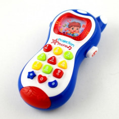 Telefon de jucarie pentru copii, cu proiectie de lumini