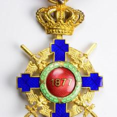 Ordinul / Decoratia Steaua Romaniei tip2, Ofiter, de Razboi