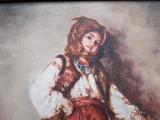 Cumpara ieftin Tarancuta - reproducere veche dupa Nicolae Grigorescu, pictura in ulei