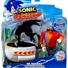 Jucarie Sonic Boom 3 Inch Figure Dr Eggman With Ripcord Eggmobile, Tomy