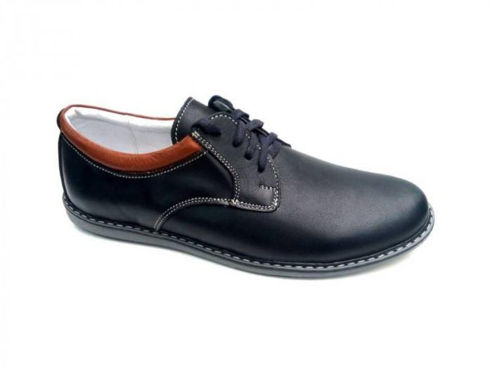 Pantofi casual - sport barbati din piele naturala PH881MBL foto mare
