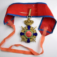 Ordinul / Decoratia Steaua Romaniei tip 2, Comandor de Razboi cu panglica VM