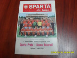 Program          Sparta  Praga   -  Steaua