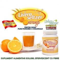 Livera Seltzer - supliment alimentar solubil efervescent cu fibre pentru buna functionarea a colonului