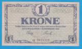 (1) BANCNOTA DANEMARCA - 1 KRONE 1920, STARE BUNA