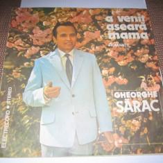 Vinil gheorghe sarac romante - Muzica Lautareasca electrecord