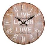 Ceas decorativ cu mesaj, 34 cm, model vintage