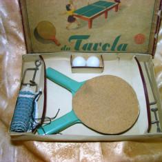 Set tenis de masa vintage anii '50, colectie, vintage