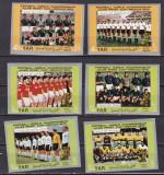 Yemen  1970  sport  fotbal  MI 1166-1171   MNH  w50, Nestampilat