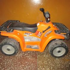 ATV Polaris Sportsman 400, Peg Perego pentru copii cu baterie 12v - Masinuta electrica copii Peg Perego, 6-8 ani, Baiat, Portocaliu