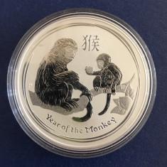 Australia - 1 Dollar 2016 - 1 oz. ( 31.1 gr. ) Argint .999 - Anul Maimutei, Australia si Oceania