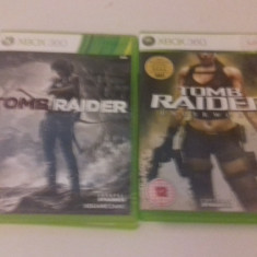 LOT 2 Jocuri Tomb Raider + Underworld - XBOX 360 [Second hand] - Jocuri Xbox 360, Actiune, 18+, Single player