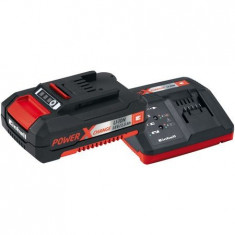 Incarcator rapid si acumulator Einhell Power-X-Change 18 V, 1500 mAh Li-Ion