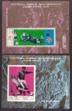 Yemen  1970  sport  fotbal  MI bl.133,134  MNH  w50, Nestampilat