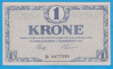 (1) BANCNOTA DANEMARCA - 1 KRONE 1916, STARE BUNA
