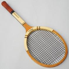 RACHETA VECHE DE TENIS DE CAMP - GERMINA VAMON - HICKORY UND FIBER - VINTAGE - Racheta tenis de camp, Adulti