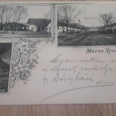 Ocna Mures, Alba 1903 mozaic floral, imagine multipla cp ilustrata - Carte Postala Transilvania 1904-1918, Circulata, Fotografie
