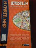 Ierusalim harta turistica a orasului (lb.engleza)