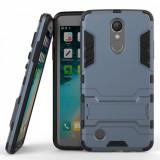 Husa LG K10 2017 Slim Armour  - Bonus Folie Protectie Ecran, Alt model telefon LG, Albastru, Silicon