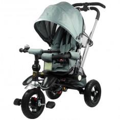 Tricicleta pentru copii, cu maner reversibil, silver - Tricicleta copii