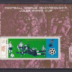Yemen  1970  sport  fotbal  MI bl.133  MNH  w50