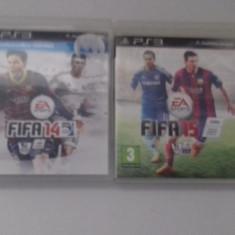 LOT 2 Jocuri FIFA 14 15 - PS3 [Second hand] - Jocuri PS3, Sporturi, 18+, Single player