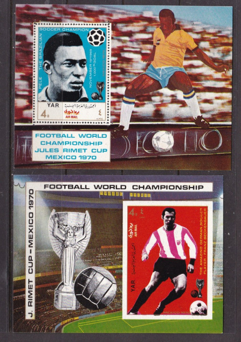 Yemen  1970  sport  fotbal  MI  bl.124,125   MNH  w50
